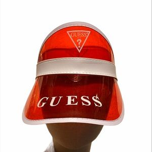 Guess Red Visor with White Logo